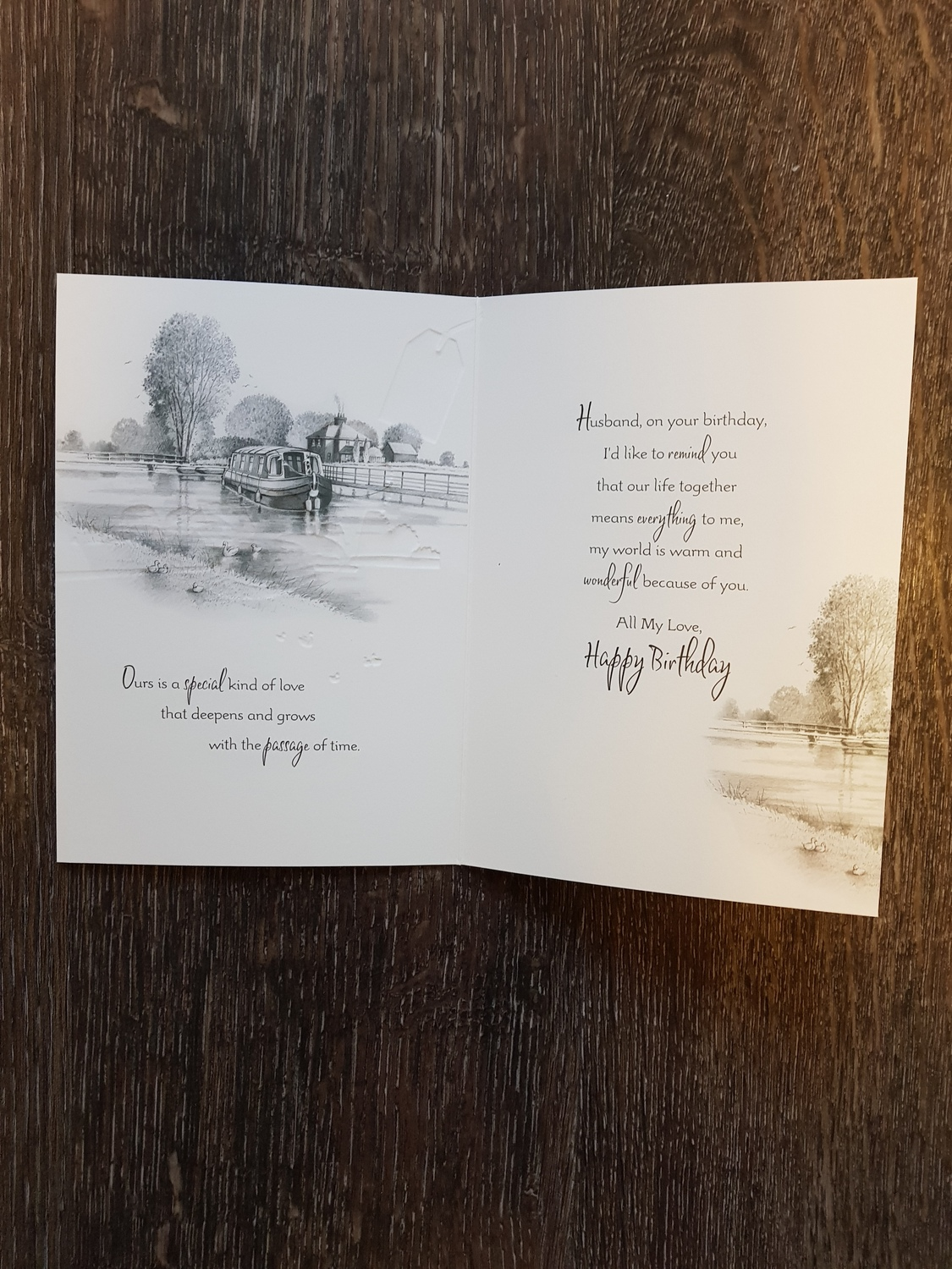 Husband Canal View Birthday Card Remember That Card Greeting