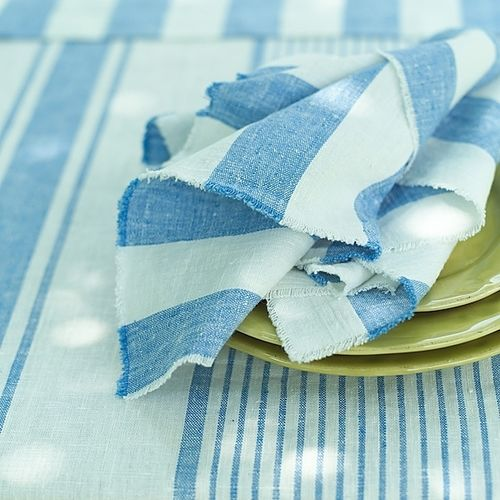 Polzeath Stripe Napkin Blue