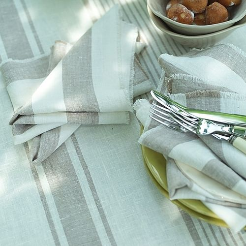 Polzeath Stripe Napkin Grey