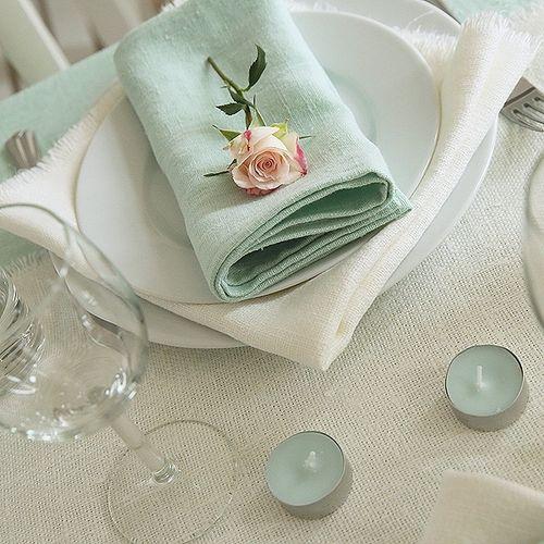 Brea Rustic Napkin White