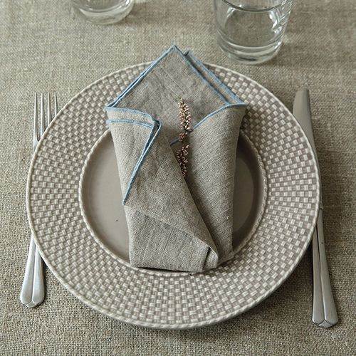 Rock Linen Napkin Natural