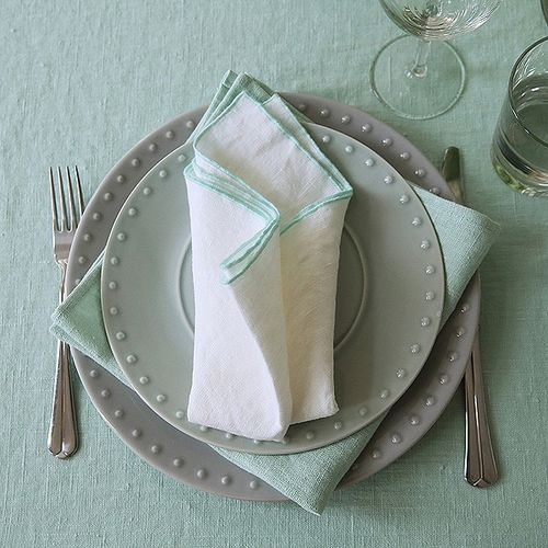 Rock Linen Napkin White