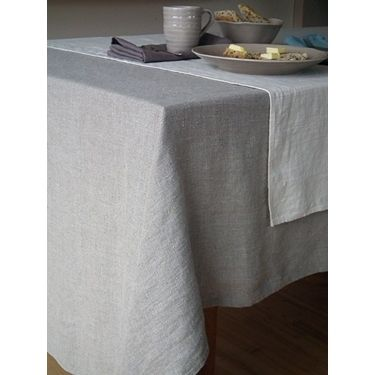 La Rochelle Natural Linen Tablecloth