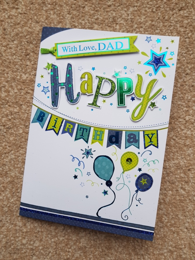 With Lovedad Balloons Bunting Birthday Card Remember That Card