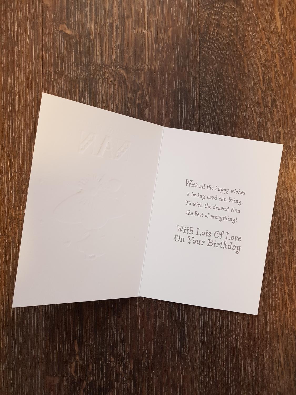 Nan Lady Hearts Birthday Card Remember That Card Greeting