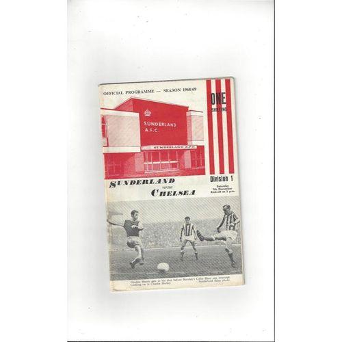 1968/69 Sunderland v Chelsea Football Programme + League Review
