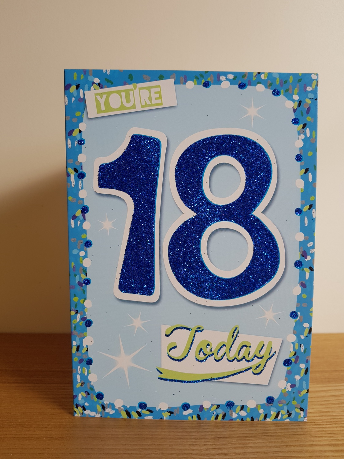 18th Birthday Blue With Stars Card Remember That Card Greeting