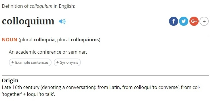 What is a colloquium???