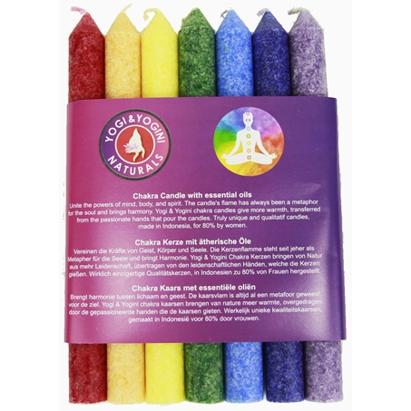 Chakra Dinner Candles