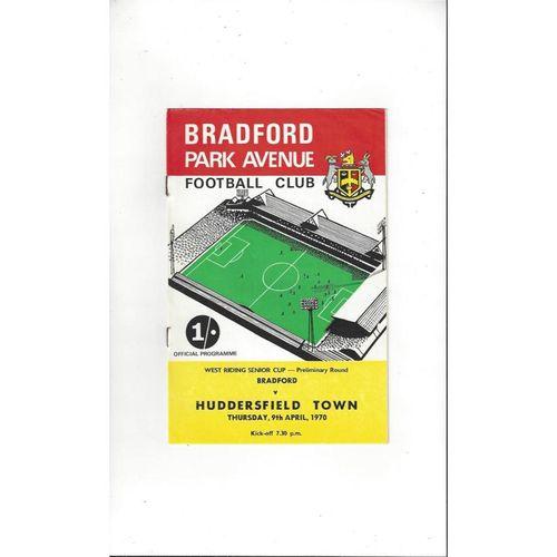 1969/70 Bradford Park Avenue v Huddersfield Town West Riding Cup Programme