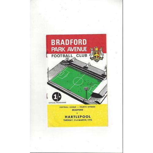 1969/70 Bradford Park Avenue v Hartlepool United Football Programme