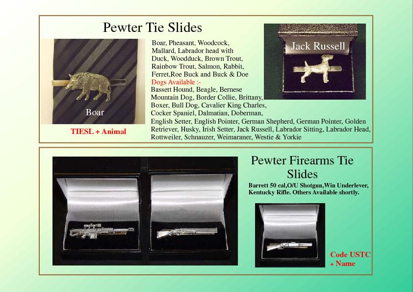 Cufflinks & Tie Slides