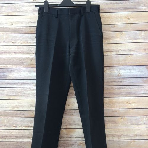 "Waist 72cm/28.3"", black trousers for school boys"