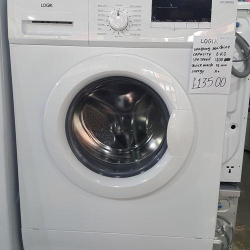 LOGIK L612WM16 Washing Machine - White