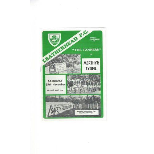 1978/79 Leatherhead v Merthyr Tydfil FA Cup Football Programme