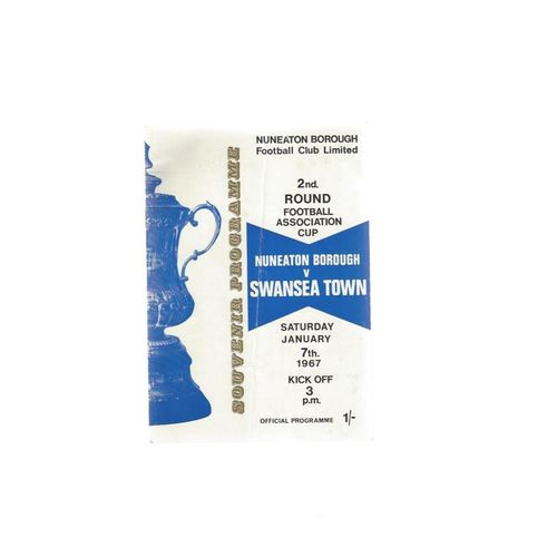 Nuneaton Borough v Swansea FA Cup Replay Programme 1966/67