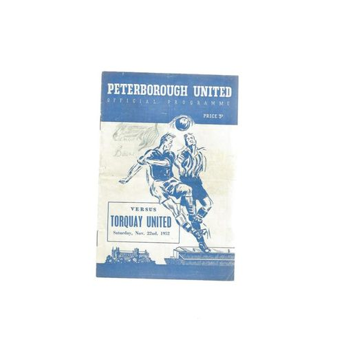 1952/53 Peterborough United v Torquay United FA Cup Football Programme