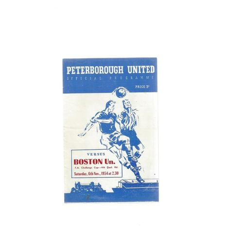 1954/55 Peterborough United v Boston United FA Cup Football Programme