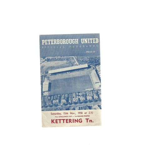 1958/59 Peterborough United v Kettering Town FA Cup Football Programme