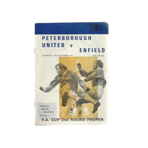 Peterborough United v Enfield FA Cup Football Programme 1971/72