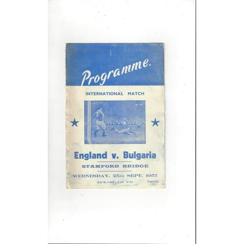 1957 England v Bulgaria Football Programme Pirate @ Chelsea