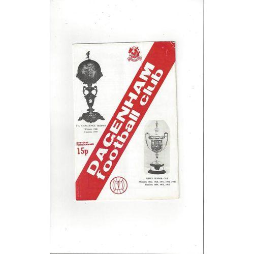 1980/81 Dagenham v Enfield Football Programme