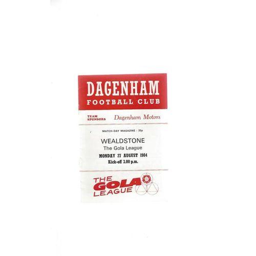 1984/85 Dagenham v Wealdstone Football Programme