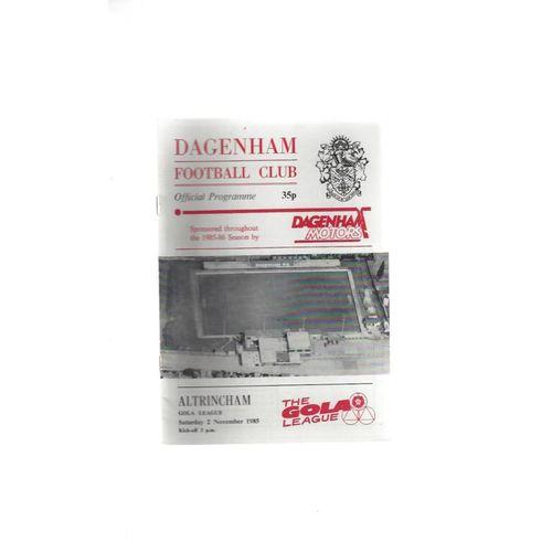 1985/86 Dagenham v Altrincham Football Programme