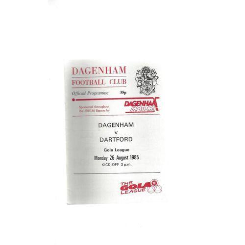 1985/86 Dagenham v Dartford Football Programme