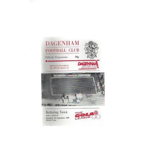 1985/86 Dagenham v Kettering Town Football Programme