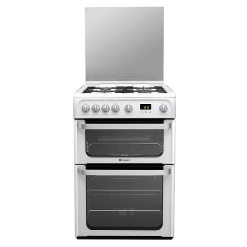 Hotpoint HUG61P Double Gas Cooker - White