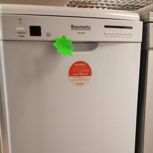Baumatic BDF465W Slimline 45cm Freestanding Dishwasher White BDF465W
