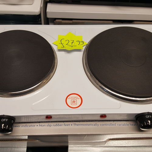 2500 W ELECTRIC TWIN HOB DUAL DOUBLE HOT PLATE TABLE TOP HOTPLATE PORTABLE COOKER