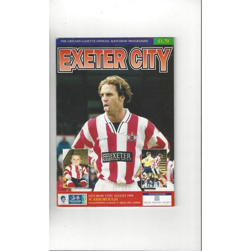 1998/99 Exeter City v Scarborough Football Programme