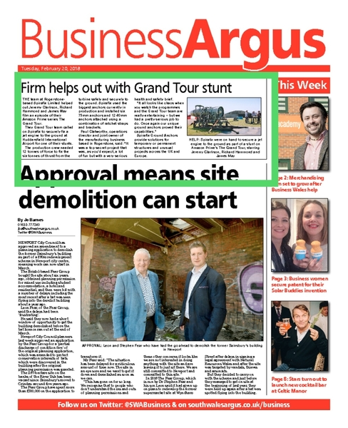 Spirafix featured in South Wales Argus