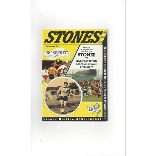 Maidstone United Home Football Programmes