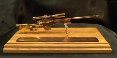 Gold Plated 1/6 Gun Ornaments
