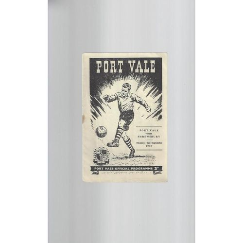 1957/58 Port Vale v Shrewsbury Town Football Programme