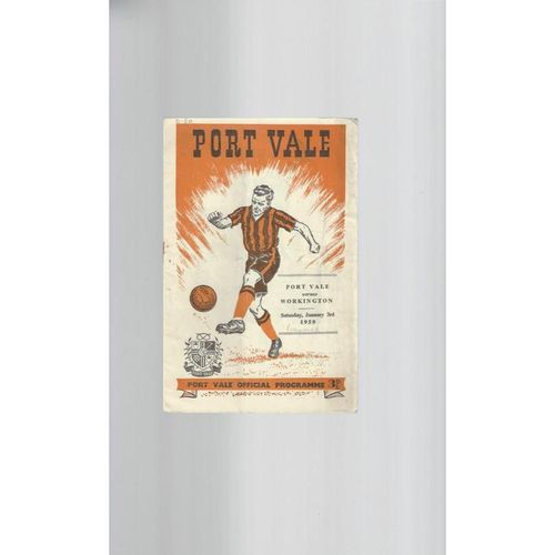 1958/59 Port Vale v Workington Football Programme Postponed