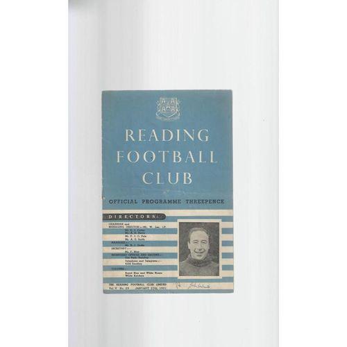 1950/51 Reading v Port Vale Football Programme