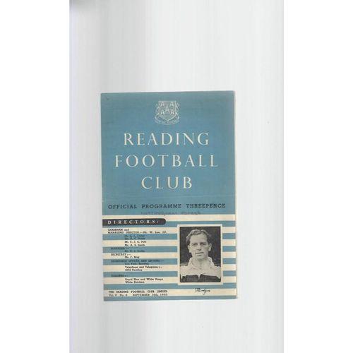 1950/51 Reading v Nottingham Forest Football Programme