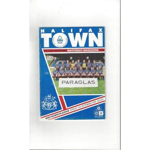 1993/94 Halifax Town v West Bromwich Albion FA Cup Football Programme