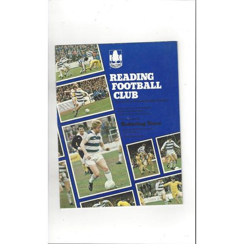 1978/79 Reading v Kettering Town FA Cup Football Programme