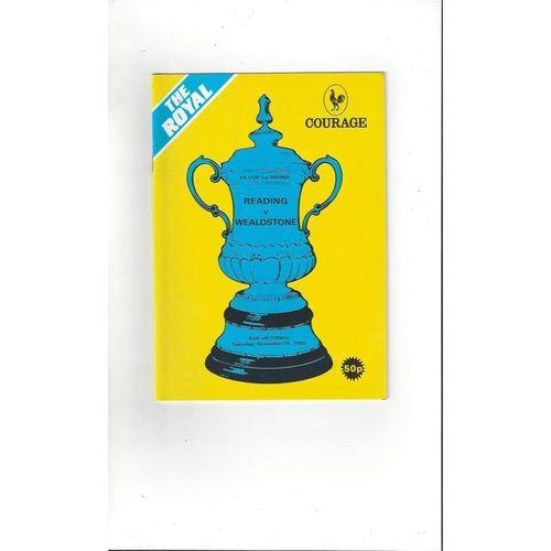 1985/86 Reading v Wealdstone FA Cup Football Programme
