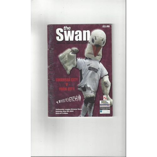 2003/04 Swansea v York City Football Programme