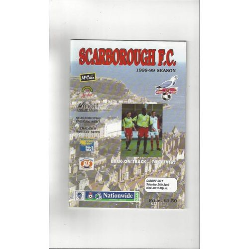 1998/99 Scarborough v Cardiff City Football Programme