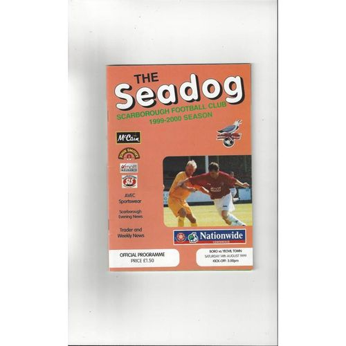 1999/00 Scarborough v Yeovil Town Football Programme