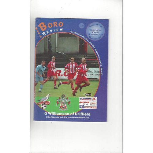 Scarborough Home Football Programmes