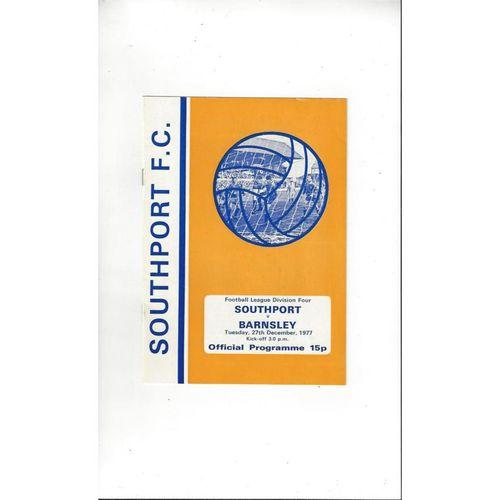 1977/78 Southport v Barnsley Football Programme