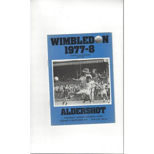 Wimbledon Home Football Programmes